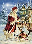 Dona Gelsinger, CHRISTMAS SANTA, SNOWMAN, classical, paintings, santa, animals(USGE9604,#X#) Weihnachtsmänner, Papá Noel, Weihnachten, Navidad, illustrations, pinturas klassisch, clásico