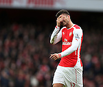 Arsenal's Olivier Giroud reacts after getting a bang<br /> <br /> Barclays Premier League - Arsenal vs Aston Villa - Emirates Stadium  - England - 1st February 2015 - Picture David Klein/Sportimage
