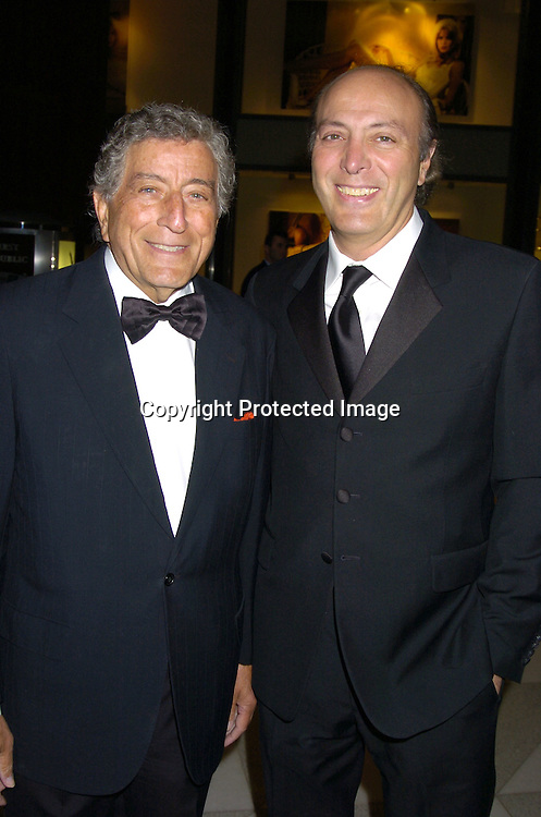 Tony Bennett and son Danny Bennett..at the Lincoln Center for the Performing Arts Spring Gala ..on March 30, 2005 at the Rose Theatre at the Time Warner Center...Photo by Robin Platzer, Twin Images
