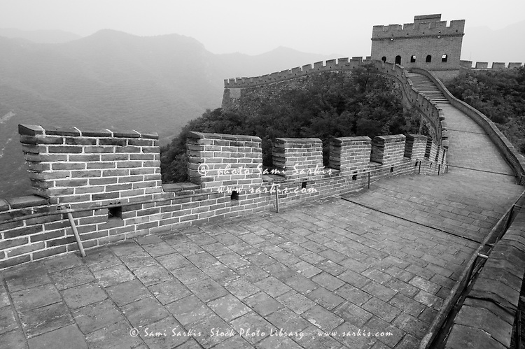 Great Wall at Juyongguan Gate, near Badaling, Beijing, China.