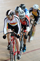 John Scott of Southland competes in the Masters Men Cat 2 Keirin at the Age Group Track National Championships, Avantidrome, Home of Cycling, Cambridge, New Zealand, Saturday, March 18, 2017. Mandatory Credit: © Dianne Manson/CyclingNZ  **NO ARCHIVING**