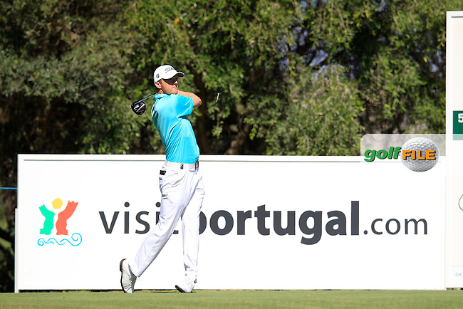 Michael Hoey (NIR) tees off the 12th tee during Saturday's Round 3 of the Portugal Masters at the Oceanico Victoria Golf Course, Vilamoura, Portugal 13th October 2012 (Photo Eoin Clarke/www.golffile.ie)