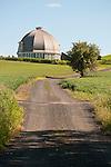 Round barn, rolling hills, Washington's Palouse.
