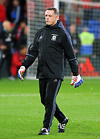 Goalkeeping coach Tony Roberts during the FIFA World Cup Qualifier Group D match between Wales and Republic of Ireland at The Cardiff City Stadium, Wales, UK. Monday 09 October 2017