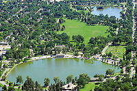 Aerial Denver, Colorado. Washington Park
