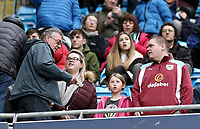 Burnley fans arrive at the Etihad stadium ahead of kick-off<br /> <br /> Photographer Rich Linley/CameraSport<br /> <br /> Emirates FA Cup Fourth Round - Manchester City v Burnley - Saturday 26th January 2019 - The Etihad - Manchester<br />  <br /> World Copyright © 2019 CameraSport. All rights reserved. 43 Linden Ave. Countesthorpe. Leicester. England. LE8 5PG - Tel: +44 (0) 116 277 4147 - admin@camerasport.com - www.camerasport.com