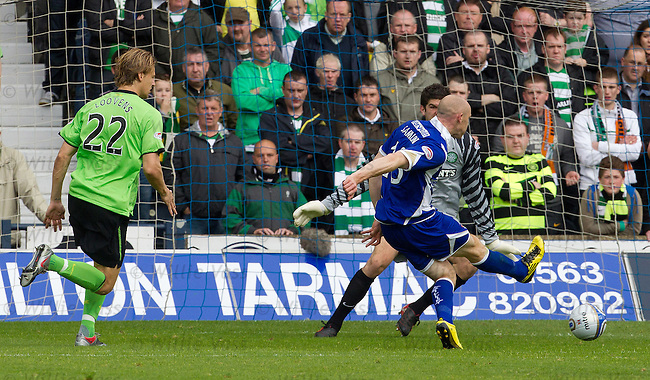 Conor Sammon opens the scoring for Kilmarnock