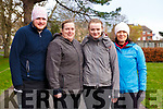 Ready for the Tralee Parkrun on New Years Day in the Tralee town park, l-r, Andrew Purcell, Christine Purcell, Laura Purcell and Margaret Griffin.