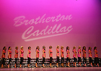 """12 July, 2008:   2008 Miss Washington contestants performed """"Pink Cadillac"""" on stage during the 2008 Miss Washington pageant at the Pantages Theater in Tacoma , Washington."""
