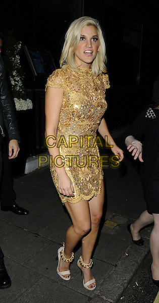Ashley Roberts<br /> The KEY Fashion new online fashion boutique launch party, Vanilla, London, England.<br /> September 25th, 2013<br /> full length gold dress <br /> CAP/CAN<br /> &copy;Can Nguyen/Capital Pictures