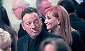 Bruce Springsteen and wife Patti Scialfal at the reception in the East Room of the White House in Washington, D.C. for the  37th Kennedy Center Honorees on Sunday, December 7, 2014.<br /> Credit: Dennis Brack / Pool via CNP