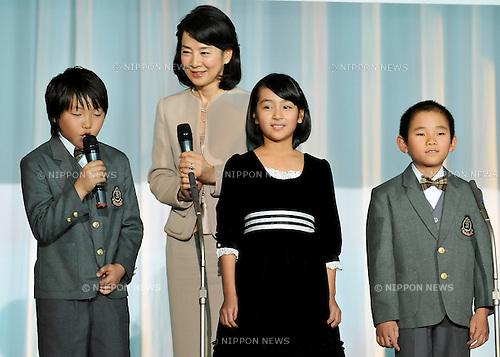 """Sayuri Yoshinaga, Nov 29, 2011 : November : Tokyo, Japan, Japanese actress Sayuri Yoshinaga appears at a press conference for the film """"Kita no Kanaria tachi"""" in the Tokyo."""