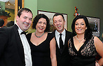 Willie and Kerry Fitzgerald  and Paul and Sharon O'Sullivan, The Malton Hotel  pictured at the Kerry Branch of the Irish Hotels Federation annual ball in the Dromhall Hotel, Killarney.<br /> Picture by Don MacMonagle<br /> <br /> repro free photo from dromhall hotel