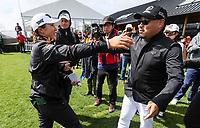 Lydia Ko and McKayson's MC Kim. McKayson NZ Women's Golf Open, Round Five, Windross Farm Golf Course, Manukau, Auckland, New Zealand, Monday 2nd October 2017.  Photo: Simon Watts/www.bwmedia.co.nz