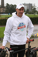 Cycling legend Graeme Obree back Sky Ride Glasgow and freshnlo Pedal for Scotland at the launch at the People's Palace, Glasgow Green, Glasgow on 11.9.11.