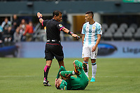 Seattle, WA - Tuesday June 14, 2016: Referee Victor Carrillo during a Copa America Centenario Group D match between Argentina (ARG) and Bolivia (BOL) at CenturyLink Field.