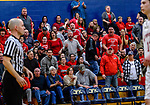 WATERBURY, CT. 14 March 2018-031418BS663 - Northwestern Fans react to a call during the Div IV semi-finals against Kolbe Cathedral at Kennedy High School on Wednesday evening. Kolbe went on to defeat Northwestern and advanced to the finals at Mohegan Sun. Bill Shettle Republican-American
