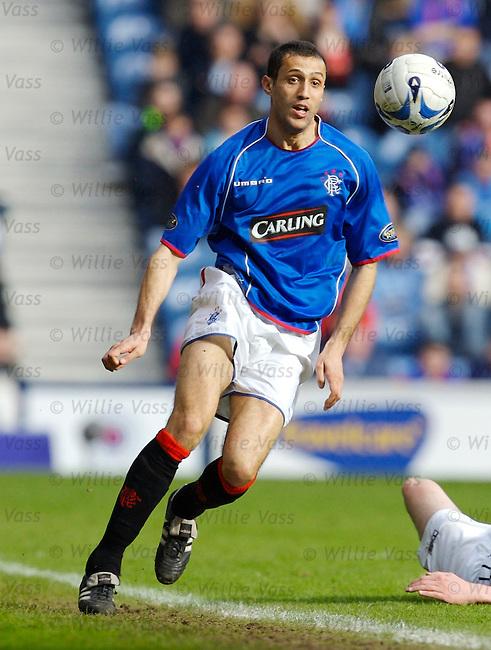 Brahim Hemdani, Rangers.stock season 2005-2006.pic willie vass