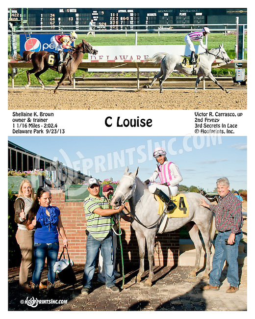 C Louise winning at Delaware Park on 9/23/13