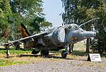 British Aerospace Harrier GR.3 ZD667 fighter plane, Bentwaters Cold War museum, Suffolk, England, UK