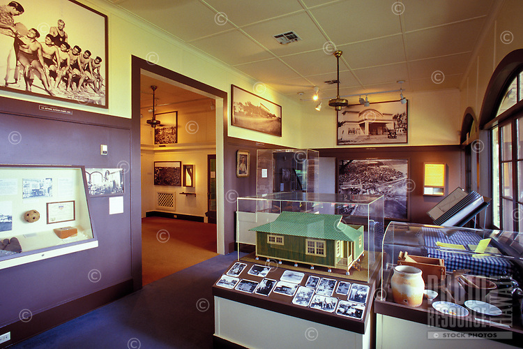 The Alexander and Baldwin Sugar Museum in Puunene exhibits the history of the sugar cane industry in Hawaii.