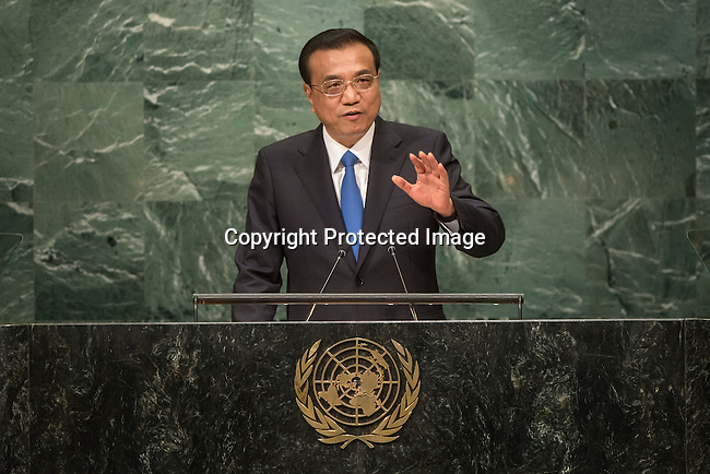 Continuation of the general debate [item 8] Address by His Excellency Li Keqiang, Premier of the State Council of the People&rsquo;s Republic of China <br /> <br /> General Assembly Seventy-first session 10th plenary meeting<br /> General Debate