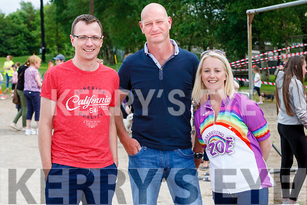 Mikie O' Connor Athea, Paul O' Connor Duagh & Alisha Scannell Abbeyfeale (Zoë's mother)  attending the Rembering Zoë Funday.
