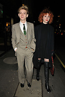 LONDON, ENGLAND - FEBRUARY 12: Thomas Brodie-Sangster and Gzi Wisdom at the Gymkhana restaurant re- launch party, Gymkhana, Albemarle Street, on Wednesday 12 February 2020 in London, England, UK. <br /> CAP/CAN<br /> ©CAN/Capital Pictures