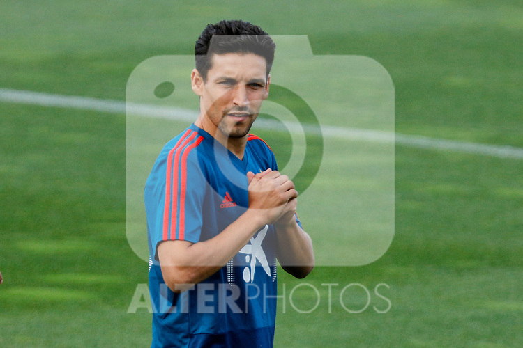 {persons} during the Trainee Session at Ciudad del Futbol in Las Rozas, Spain. September 02, 2019. (ALTERPHOTOS/A. Perez Meca)