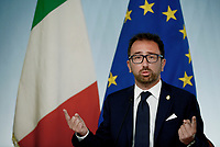 Roma, 24 Luglio 2018<br /> Alfonso Bonafede<br /> Conferenza stampa a Palazzo Chigi al termine del Consiglio dei Ministri, Decreto Mille Proroghe