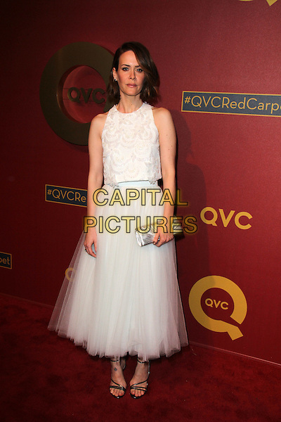 BEVERLY HILLS, CA - February 28: Sarah Paulson at QVC 5th Annual Red Carpet Style Event, Four Seasons, Beverly Hills,  February 28, 2014.  <br /> CAP/MPI/JO<br /> &copy;Janice Ogata/MediaPunch/Capital Pictures