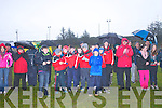 Daingean Uí Chúis supporters cheering their team after winning the West Kerry Senior Final against Annascaul at Lios Poil GAA Grounds in Sunday afternoon..