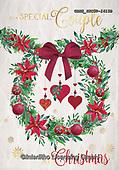 John, CHRISTMAS SYMBOLS, WEIHNACHTEN SYMBOLE, NAVIDAD SÍMBOLOS, paintings+++++,GBHSSXC50-1415B,#xx# ,wreath