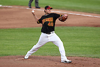 Rochester Red Wings Pitcher Anthony Swarzak (40) during a game vs. the Norfolk Tides at Frontier Field in Rochester, New York;  May 31, 2010.   Norfolk defeated Rochester by the score of 2-1.  Photo By Mike Janes/Four Seam Images