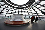 The Reichstag's modern dome.