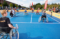 15-09-12, Netherlands, Amsterdam, Tennis, Daviscup Netherlands-Suisse, Kids in wheelchair playing tennis