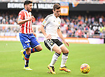 Valencia CF's  Guitian  and Sporting de Gijon's  Jose Gaya during La Liga match. January 31, 2016. (ALTERPHOTOS/Javier Comos)