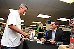 International coach Robbie Deans at his booking signing. Paper Plus, Motueka, Nelson, New Zealand. Wednesday 22 October 2014. Photo: Chris Symes/www.shuttersport.co.nz EDITOR NOTE: Rights Managed Images.