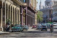 HAVANA, CUBA, 20.07.2015 –  Vista da avenida Paseo del Prado na cidade de Havana em Cuba. (Foto: Paulo Lisboa/Brazil Photo Press)