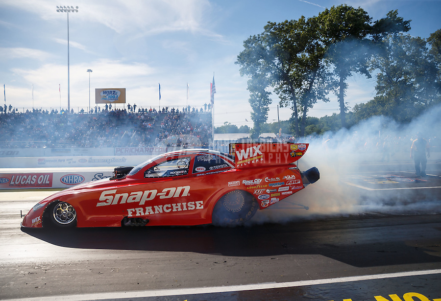 Jun 10, 2016; Englishtown, NJ, USA; NHRA funny car driver Cruz Pedregon during qualifying for the Summernationals at Old Bridge Township Raceway Park. Mandatory Credit: Mark J. Rebilas-USA TODAY Sports