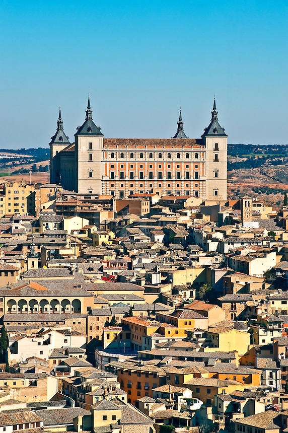 Cityscape and Alcazar, Toledo, Spain