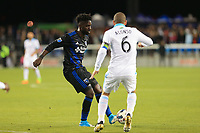 San Jose, CA - Saturday April 08, 2017: Simon Dawkins  during a Major League Soccer (MLS) match between the San Jose Earthquakes and the Seattle Sounders FC at Avaya Stadium.
