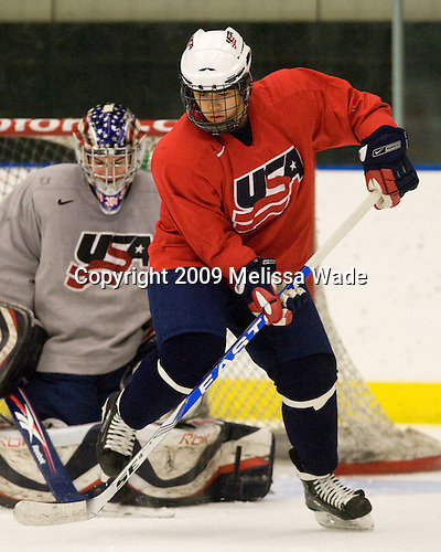 (Campbell) A.J. Treais (US - 23) - The US practiced the morning of Sunday, April 19, 2009, prior to their gold medal game against Russia in the 2009 World Under 18 Championship at the Urban Plains Center in Fargo, North Dakota.