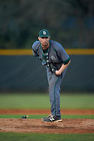 Saint Leo Lions starting pitcher Andrew Cohen (37) looks in for the sign during a game against the Northwestern Wildcats on March 4, 2016 at North Charlotte Regional Park in Port Charlotte, Florida.  Saint Leo defeated Northwestern 5-3.  (Mike Janes/Four Seam Images)
