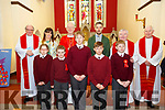 Miss Eilish Lyons confirmation class from Lyreacrompane NS who were confirmed in St Birgid's Church, Duagh by Bishop Ray  Browne on Tuesday last.