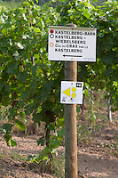 walking path sign vineyard kastelberg gc andlau alsace france