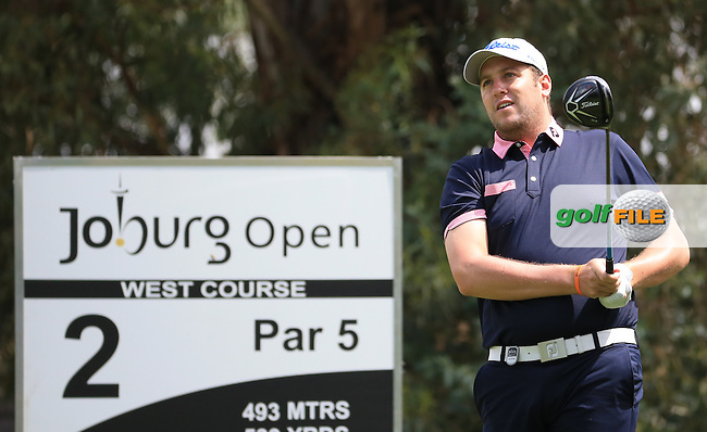 Matthew Southgate (ENG) on the West Course during Round 2 of the 2016 Joburg Open Celebrating 10 years, played at the Royal Johannesburg and Kensington Golf Club, Gauteng, Johannesburg, South Africa.  15/01/2016. Picture: Golffile | David Lloyd<br /> <br /> All photos usage must carry mandatory copyright credit (&copy; Golffile | David Lloyd)
