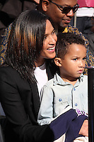 Helen Lasichanh, Rocket Williams at the Pharrell Williams Star on the Hollywood Walk of Fame, Hollywood, CA 12-04-14<br />