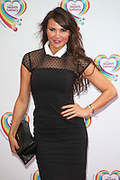 Lizzie Cundy arriving for the Health Lottery Tea Party, The Savoy, London. 02/06/2014 Picture by: Alexandra Glen / Featureflash