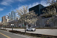 NEW YORK, NY - MARCH 24: Rear view of the Javits Convention Center, which in the next few weeks will become a hospital to combat coronavirus cases on March 24, 2020 in New York City. New York City, with more than 25,000 confirmed cases of (COVID-19), makes it the epicenter of the outbreak in the United States. (Photo by Pablo Monsalve / VIEWpress via Getty Images)
